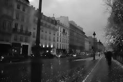 场面在巴黎,黑白 库存照片