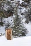 场面多雪的冬天 库存图片