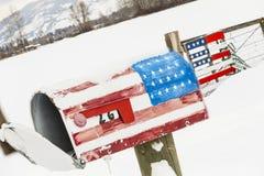 场面多雪的冬天 免版税图库摄影