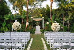 场面婚礼 库存图片