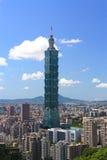 场面晴朗的台北 免版税图库摄影