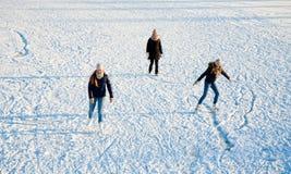 场面滑冰 免版税库存图片