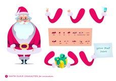 场面的圣诞老人字符 P 免版税库存照片