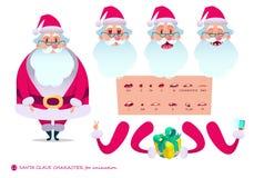 场面的圣诞老人字符 P 库存图片