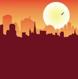 场面都市系列的地平线 免版税库存照片