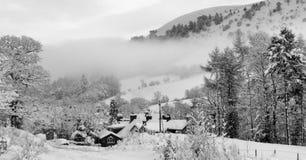 场面雪英国威尔士冬天 免版税图库摄影