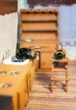 场面从土蜂家庭生活  免版税库存图片
