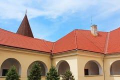 围场Palanok城堡,乌克兰 免版税库存图片