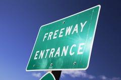 寻址101的高速公路入口,维特纳,加利福尼亚,美国 库存照片
