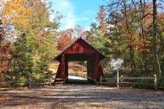 坎伯的被遮盖的桥 免版税库存图片