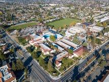 坎伯空中照片在加利福尼亚 免版税图库摄影
