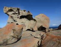 坎加鲁岛,南澳大利亚卓越的岩石  免版税库存照片