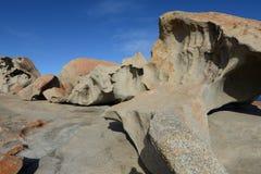 坎加鲁岛,南澳大利亚卓越的岩石  图库摄影