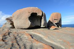坎加鲁岛,南澳大利亚卓越的岩石  库存照片