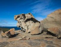 坎加鲁岛,南澳大利亚卓越的岩石  免版税图库摄影
