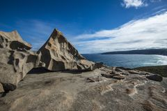 坎加鲁岛,南澳大利亚卓越的岩石  库存图片