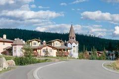 坎卢普斯,英国COLUMBIA/CANADA - 8月11日:新的公寓a 免版税库存图片