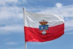 坎塔布里亚,西班牙旗子  库存图片