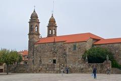 坎巴多斯,西班牙- 2018年9月:努力去做圣贝尼托教会的本机在Pazo de Fefinans在坎巴多斯,西班牙 库存图片