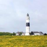 坎彭灯塔叙尔特岛的在5月 免版税库存照片