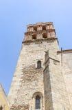 坎德拉里亚角教会和大学在萨夫拉,巴达霍斯,西班牙省  图库摄影