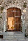 坎恩帕贝索,入口城堡  库存照片