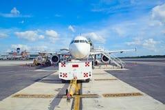 坎昆机场 免版税库存图片