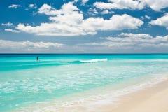 坎昆海滩 库存图片