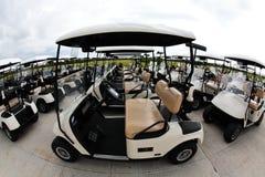 坎昆用车运送高尔夫球手段 库存图片
