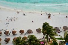 坎昆,墨西哥鸟瞰图  免版税库存图片