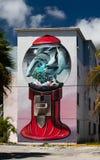 坎昆,墨西哥;09 14 2018年 都市的艺术 免版税库存照片