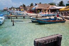 坎昆isla墨西哥mujeres尤加坦 免版税库存照片