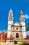 坎比其大教堂在墨西哥 库存图片