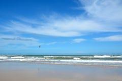 坎比其海滩,弗洛里亚诺波利斯,巴西 免版税库存照片