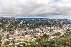 坎波斯做Jordao,巴西 从大象` s小山的看法 库存照片