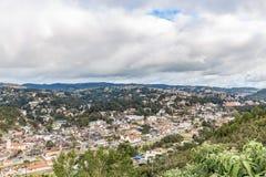 坎波斯做Jordao,巴西 从大象` s小山的看法 免版税图库摄影