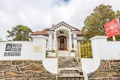 坎波斯做JORDAO,巴西- 2017年7月03日:木刻房子博物馆 免版税图库摄影