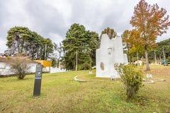 坎波斯做JORDAO,巴西- 2017年7月03日:费利西亚Leirner纪念碑 库存图片