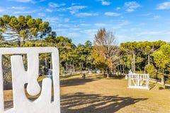 坎波斯做JORDAO,巴西- 2017年7月04日:费利西亚Lierner博物馆 免版税库存照片