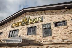 坎波斯做JORDAO,巴西- 2017年7月03日:Baden Baden啤酒厂 库存图片