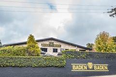 坎波斯做JORDAO,巴西- 2017年7月03日:Baden Baden啤酒厂 免版税库存照片