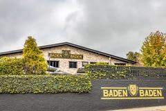 坎波斯做JORDAO,巴西- 2017年7月03日:Baden Baden啤酒厂 免版税库存图片