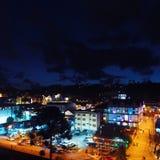 坎波斯鸟瞰图做Jordão市,São保罗,巴西 库存照片