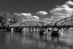 坎波斯Salles桥梁 图库摄影