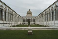 坎波桑托Monumentale在比萨,意大利 免版税图库摄影