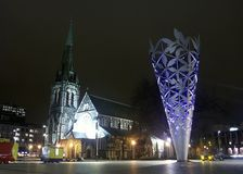 坎特伯雷大教堂克赖斯特切奇纪念碑 库存照片