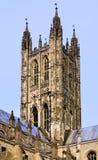 坎特伯雷大教堂塔 库存照片