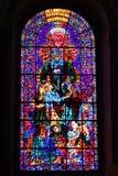 坎特伯雷大教堂玻璃污点 图库摄影