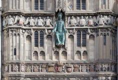 坎特伯雷大教堂,肯特,英国外部入口门面  免版税库存照片