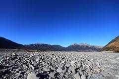 坎特伯雷新的河waimakariri西兰 免版税库存照片